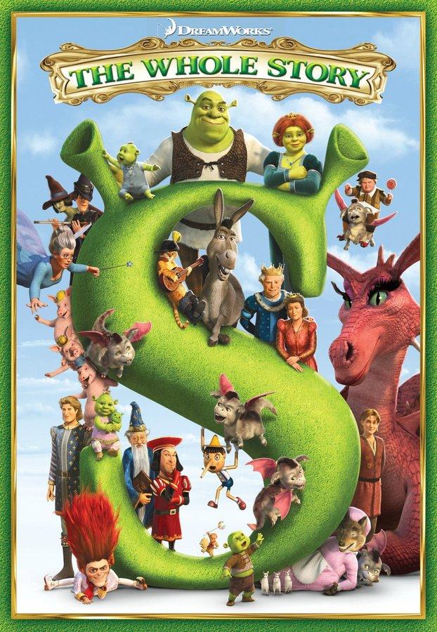 Dreamworks Shrek 1, 2, 3 & Forever After Boxed Set