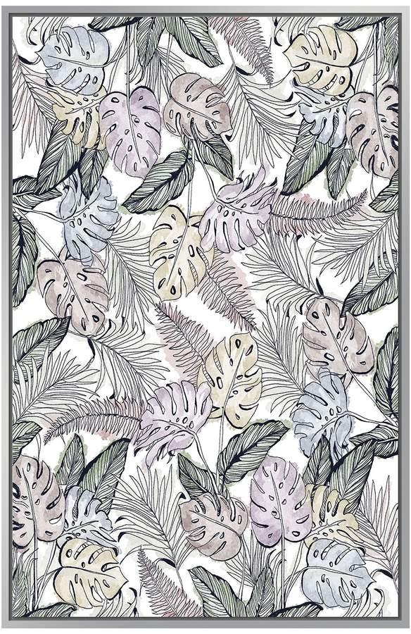 Jonathan Bass Studio Pastel Jungle (Framed Canvas)