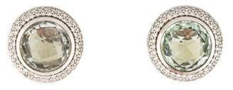 David Yurman Prasiolite & Diamond Cerise Earrings