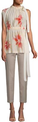 Sportmax Moretto Floral Silk Blouse