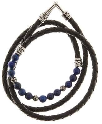 Lapis Jean Claude Beaded & Braided Leather Wrap Bracelet