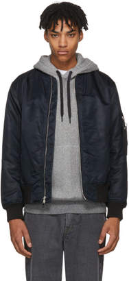 Rag & Bone Black Manston Bomber Jacket