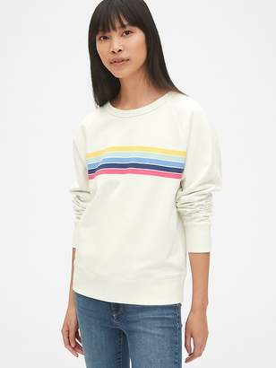 Gap Vintage Soft Graphic Raglan Pullover Sweatshirt