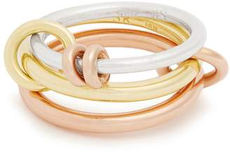 Rosegold SPINELLI KILCOLLIN Raneth silver, yellow & rose-gold ring