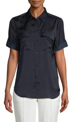 Equipment Slim-Fit Short-Sleeve Shirt