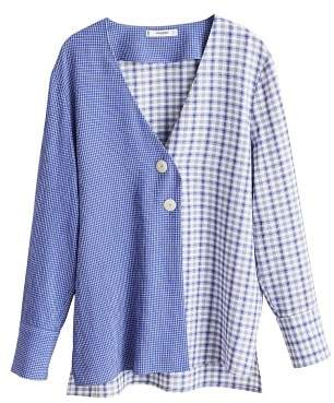 MANGO Combined check blouse