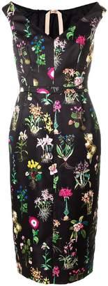 N°21 N.21 Botanical-print Duchess-satin Midi Dress