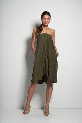 Maui Short Dress in Olive