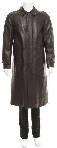 Ralph Lauren Purple LabelRalph Lauren Purple Label Textured Leather Coat