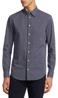 Emporio Armani Printed Cotton Button-Down Shirt