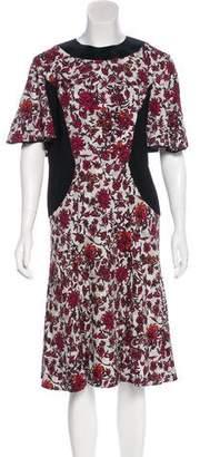 Louis Vuitton Silk-Trimmed Floral Dress
