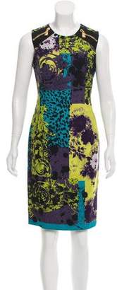 Gianni Versace Printed Knee-Length Dress w/ Tags