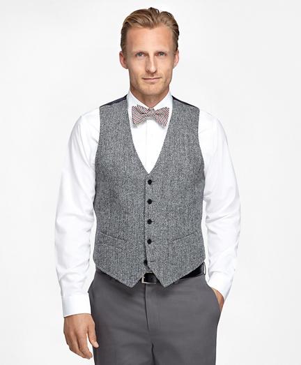 Brooks Brothers Harris Tweed Wool Vest