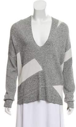 Helmut Lang Colorblock V-Neck Sweater