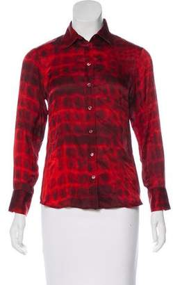 HUGO BOSS Boss by Printed Button-Up Top