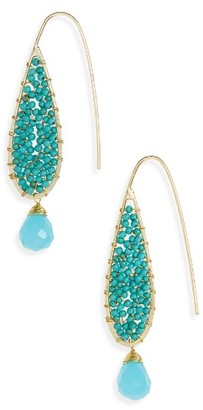 Women's Panacea Beaded Teardrop Earrings $24 thestylecure.com