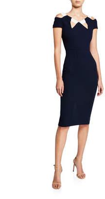 Roland Mouret Atkinson Cold-Shoulder Dress