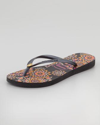 Havaianas Slim Illusion Flip-Flop, Black