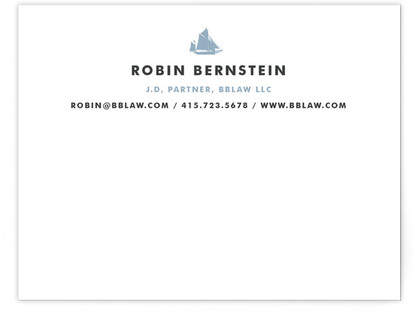 Captain Business Stationery Cards