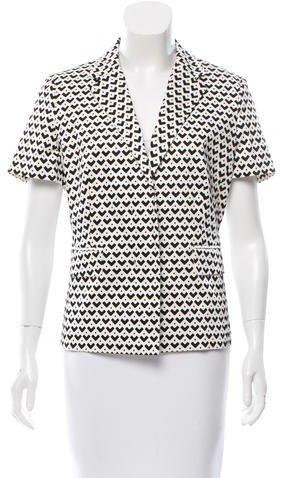 Max MaraMaxMara Geometric Print Short Sleeve Blazer w/ Tags
