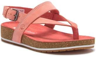 Timberland Malibu Waves Leather Platform Thong Sandal