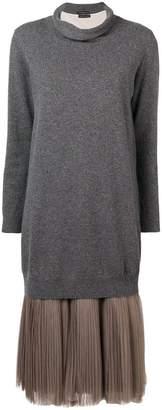 Fabiana Filippi tulle skirt knitted dress