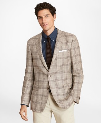 Brooks Brothers Regent Fit Three-Button Plaid Sport Coat