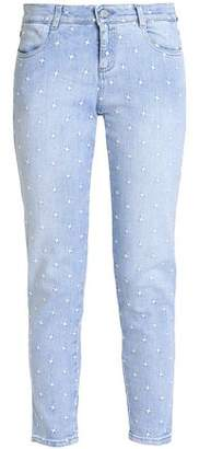 Stella McCartney Embroidered Low-Rise Skinny Jeans
