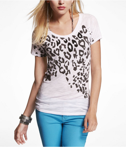 Express Slub Graphic Tee - Sporty Leopard