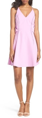Women's Adelyn Rae Fit & Flare Dress $94 thestylecure.com