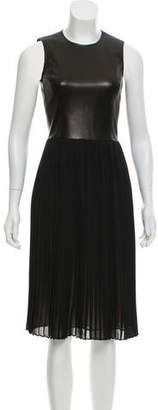 Michael Kors Leather Midi Dress w/ Tags