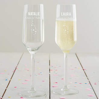 Becky Broome Personalised 'Queen Of Bubbles' Champagne Flute