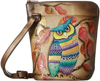 Anuschka 493 Two Sided Zip Travel Organizer Cross Body Handbags