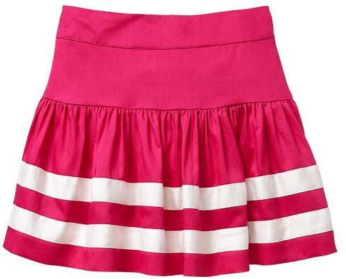 Gap Flared stripe skirt