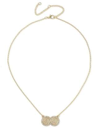 Miss Selfridge Gold ditsy necklace
