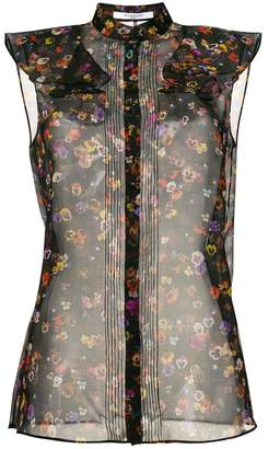 Givenchy sheer floral print shirt