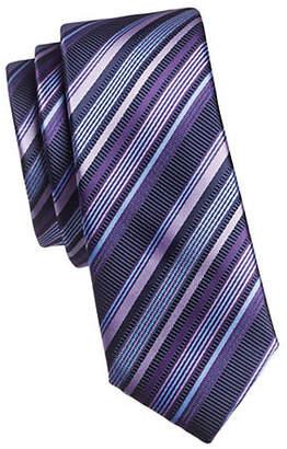1670 Embroidered Stripe Slim Tie