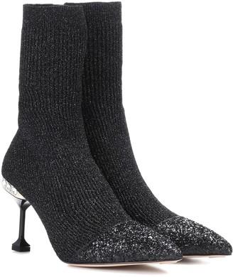 Miu Miu Stretch-knit ankle boots