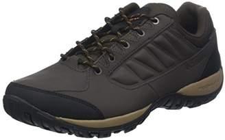 Sorel COLUMBIA Men's Hiking Shoes, RUCKEL RIDGE Waterproof, Brown (Cordovan, Canyon Gold), Size: 10.5