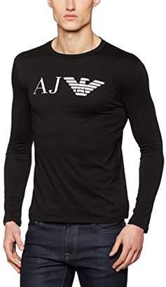 Armani Jeans Men's Slim Fit Pima Cotton Long Sleeve T-Shirt