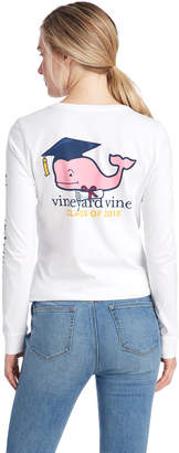 Vineyard Vines Womens Long-Sleeve Graduation Whale 2018 Pocket Tee