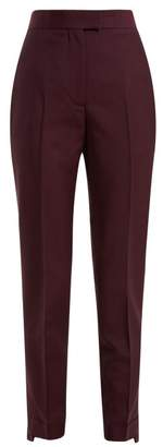 Acne Studios Tailored Wool Blend Trousers - Womens - Burgundy