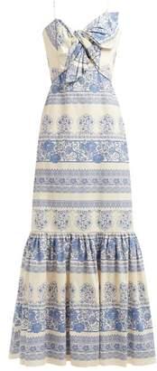 Johanna Ortiz Deep Waters Floral Print Maxi Dress - Womens - Blue Multi