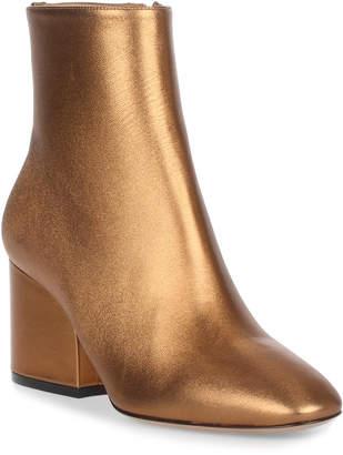 Salvatore Ferragamo Pisa 70 leather bronze bootie