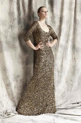 Theia - Scoop Neckline Sequin Gown 881404 $459 thestylecure.com