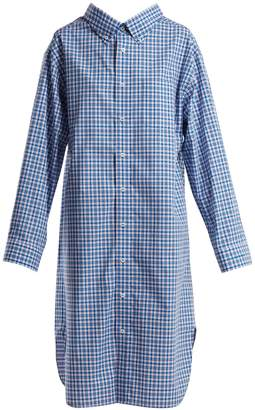 Balenciaga Oversized check-cotton shirtdress