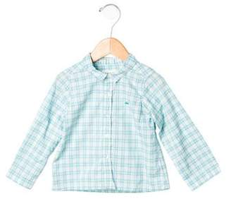 Marie Chantal Boys' Plaid Button-Up Shirt