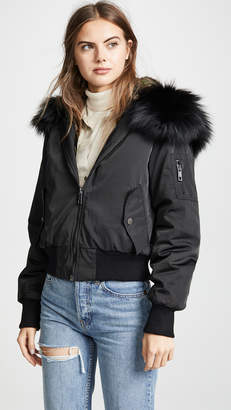 Jocelyn Cropped Bomber Jacket