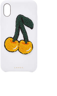 Chaos M'O Exclusive Embroidered Chenille Cherry Leather iPhone X Case