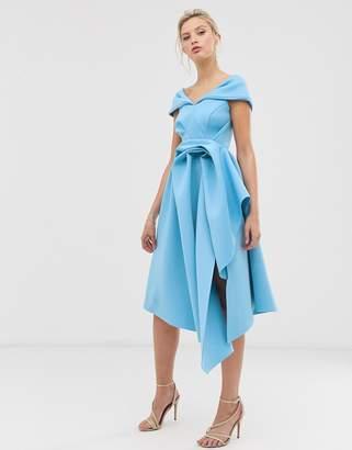 Bardot Asos Design ASOS DESIGN Tuck detail midi dress